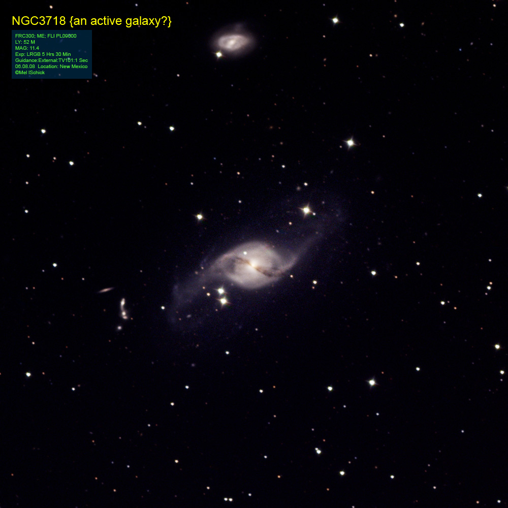 Astronomy Image of: NGC 3718 an active galaxy